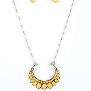 Paparazzi Accessories Long Yellow Necklace Set